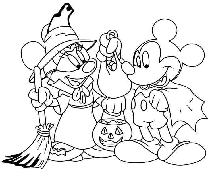 Free Disney Halloween Coloring