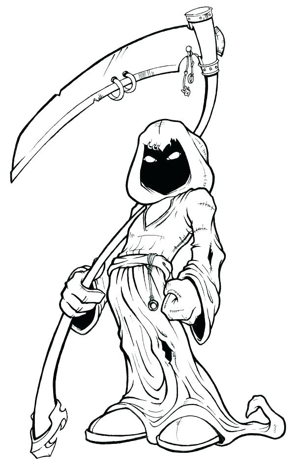 Free Grim Reaper Coloring Pages printable