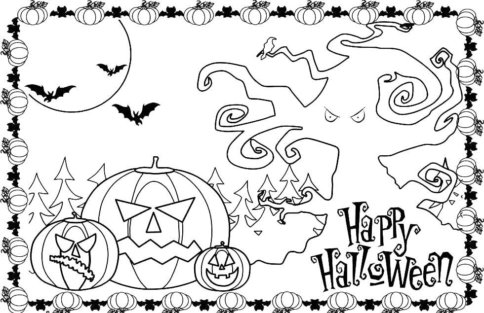 Free Halloween Spooky Coloring Pages printable