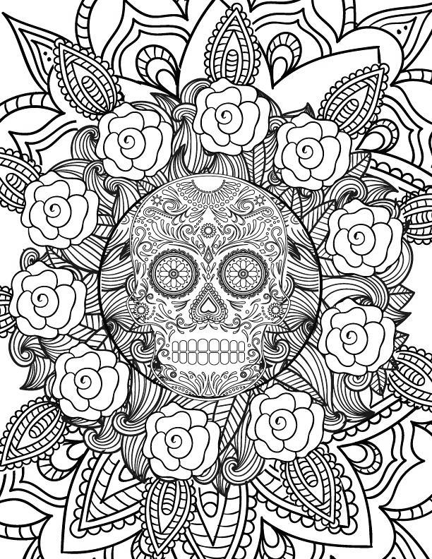 Free Mandala Spooky Coloring Pages printable