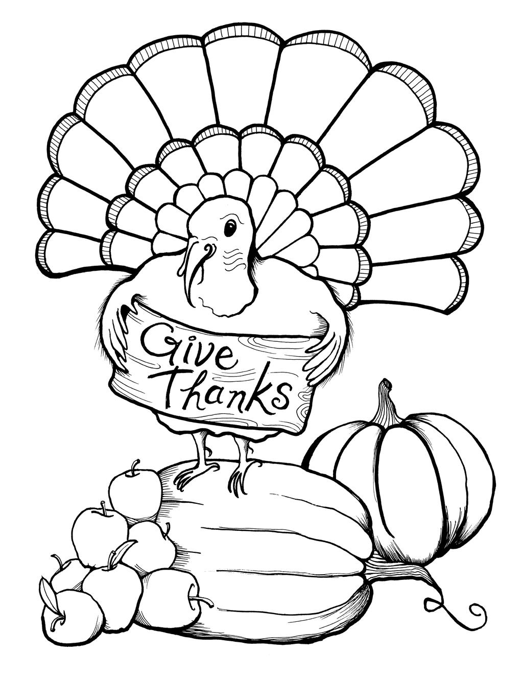 November Coloring Pages Apples And Pumpkins - Free ...