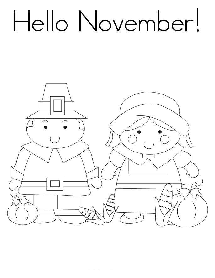 Free November Coloring Pages Boy And Girl printable