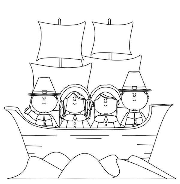 November Coloring Pages Sailing