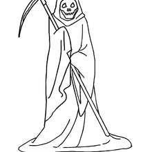 Free Printable Grim Reaper Coloring Pages printable