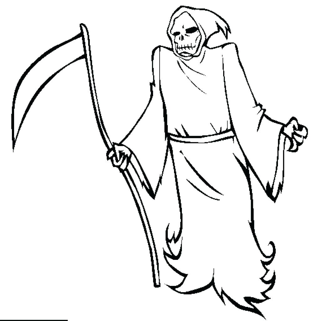 Free Skull Grim Reaper Coloring Pages printable