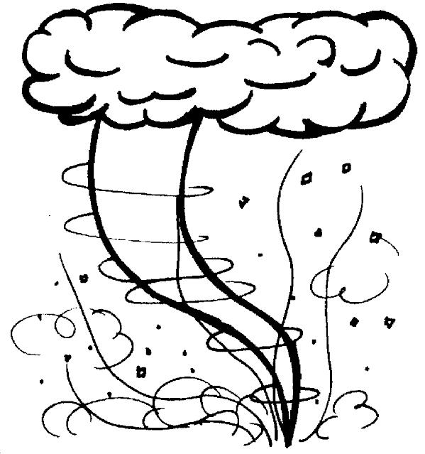 Free Smiling Tornado Coloring Pages printable