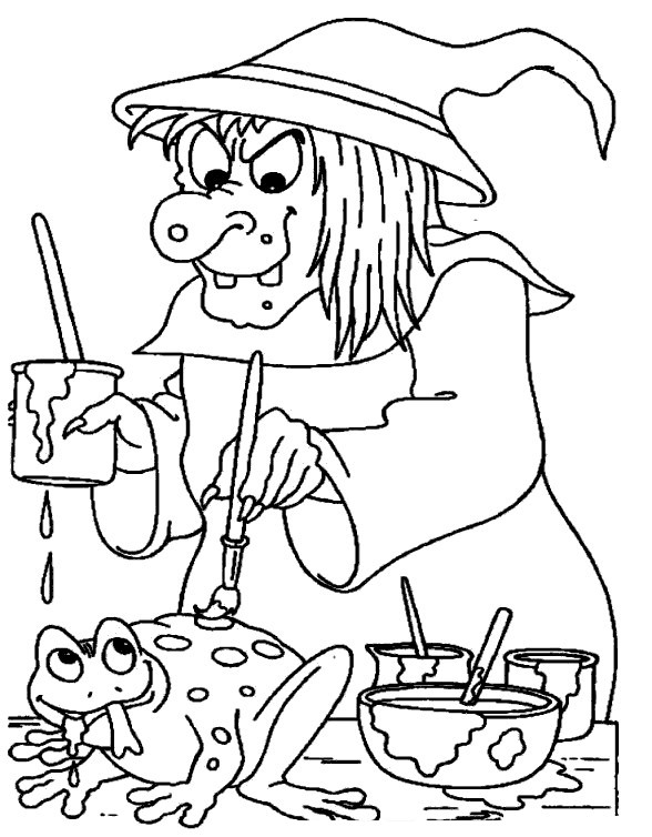 Free Spooky Coloring Pages Frog printable