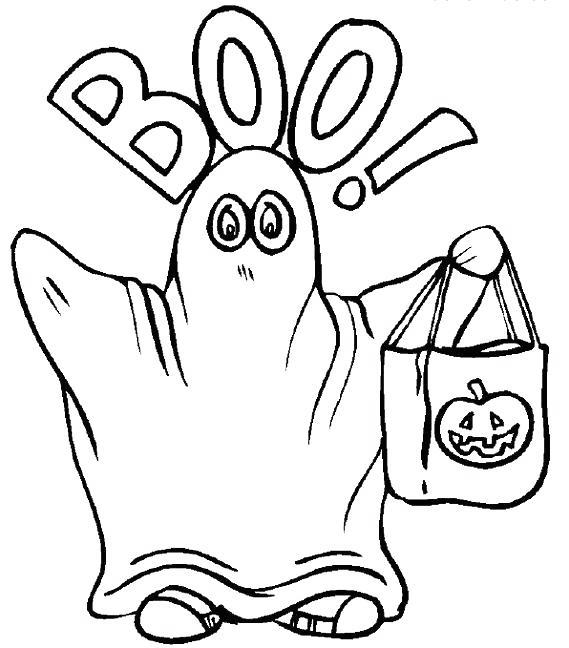 Free Spooky Coloring Pages Ghost printable