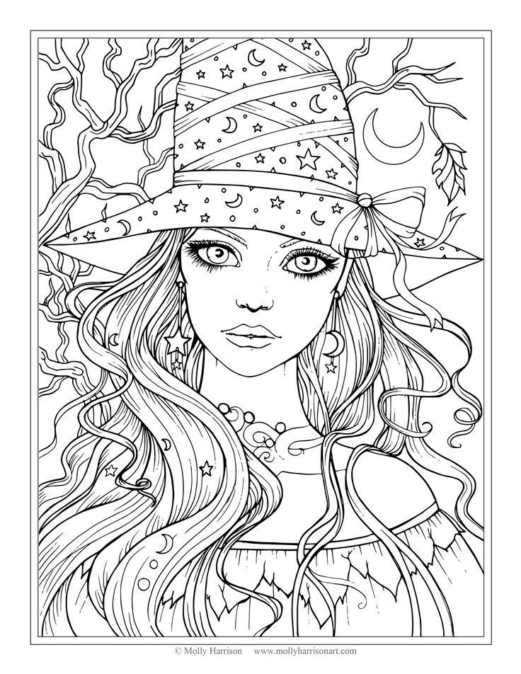 Free Spooky Coloring Pages Molly printable