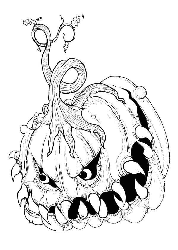 Free Spooky Pumpkin Coloring Pages printable