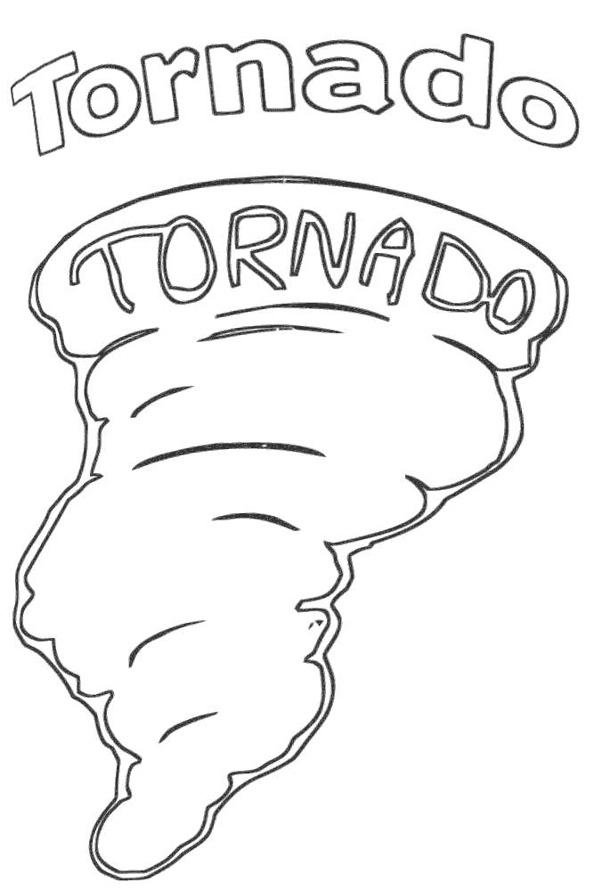 Free Tornado Coloring Pages Hand Drawing printable
