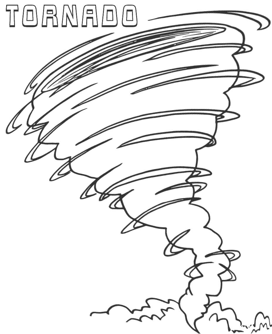 Free Tornado Coloring Pages for Preschool printable