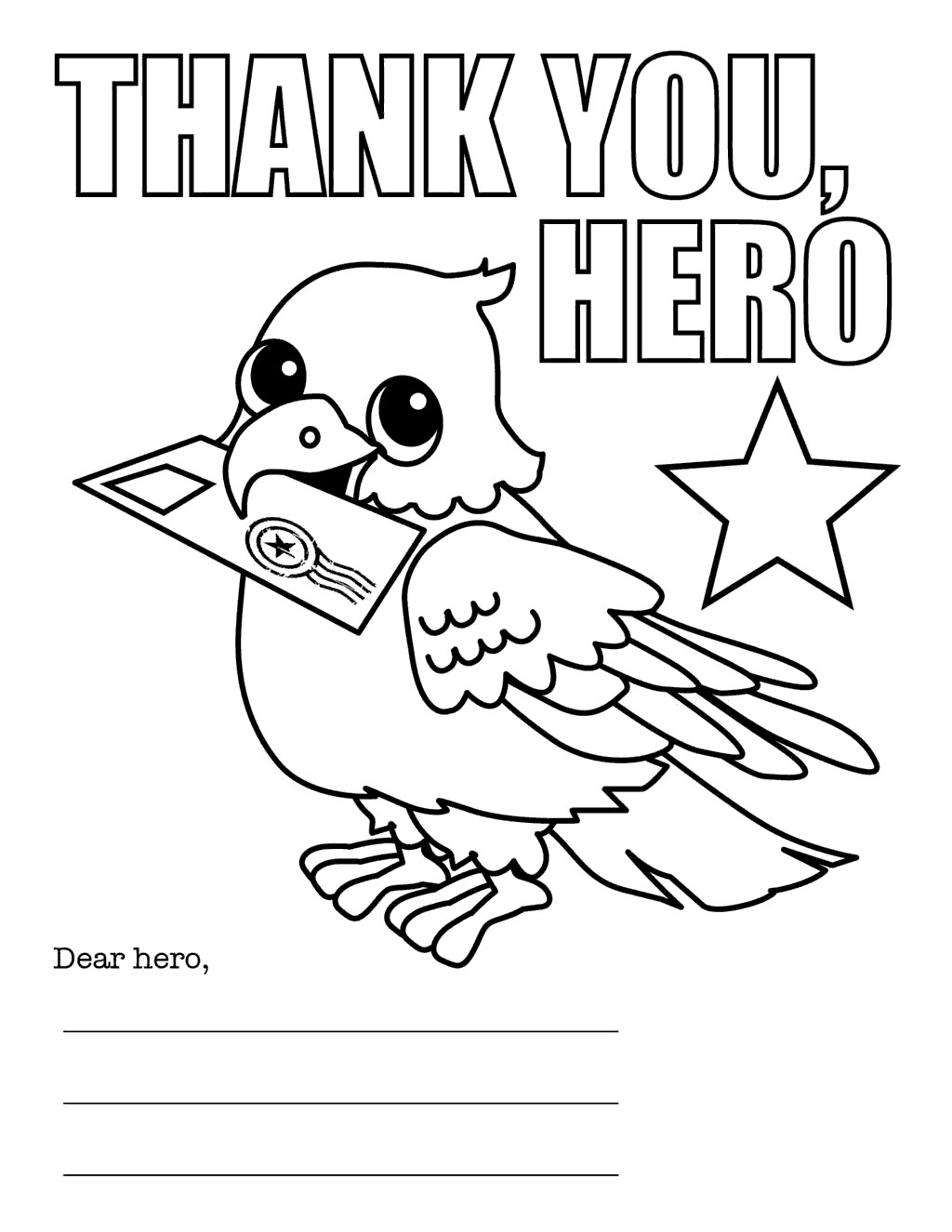 Veterans Day Coloring Pages Letter
