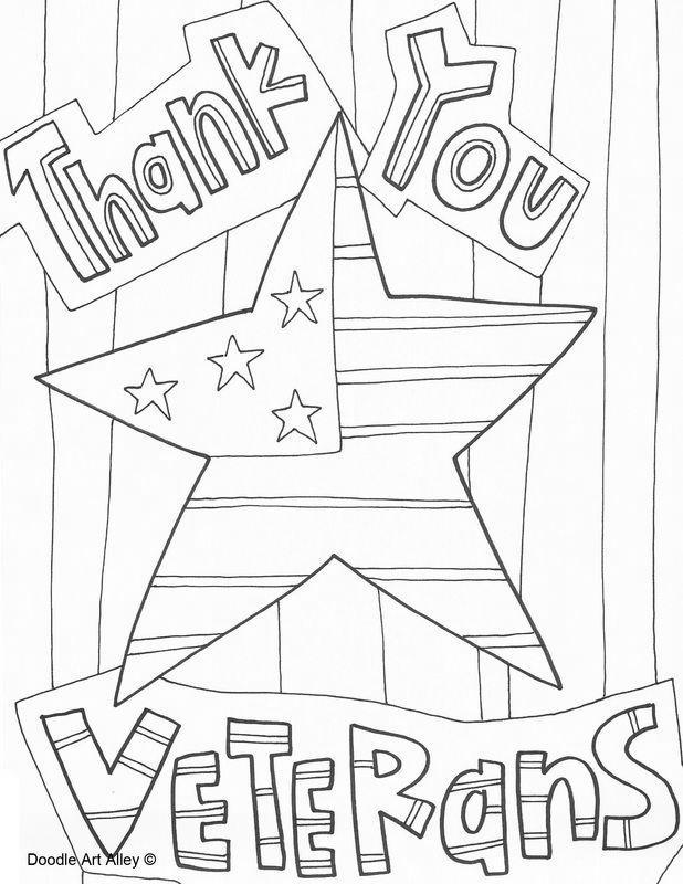 Veterans Day Coloring Pages Thank
