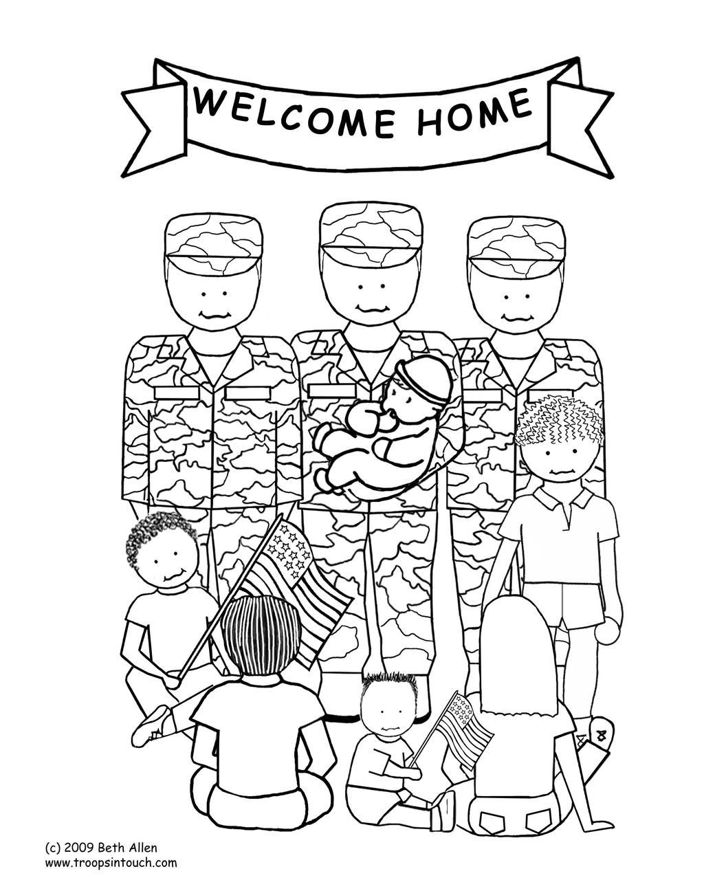 Free Veterans Day Coloring Pages Thank You printable