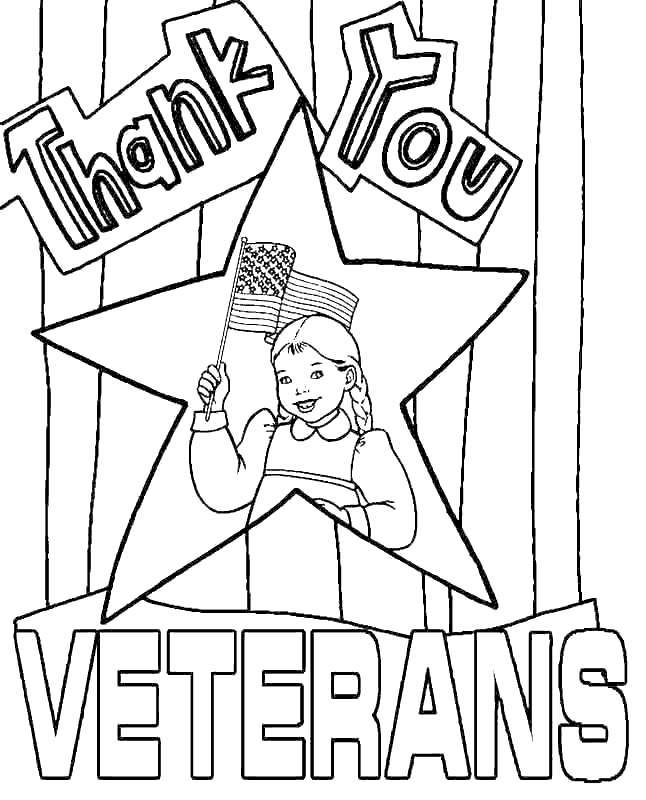 Free Veterans Day Coloring Pages for Girl printable