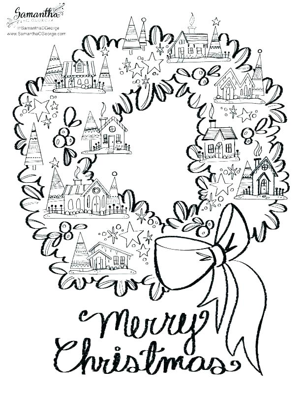 Free Advent Coloring Pages Merry Christmas printable