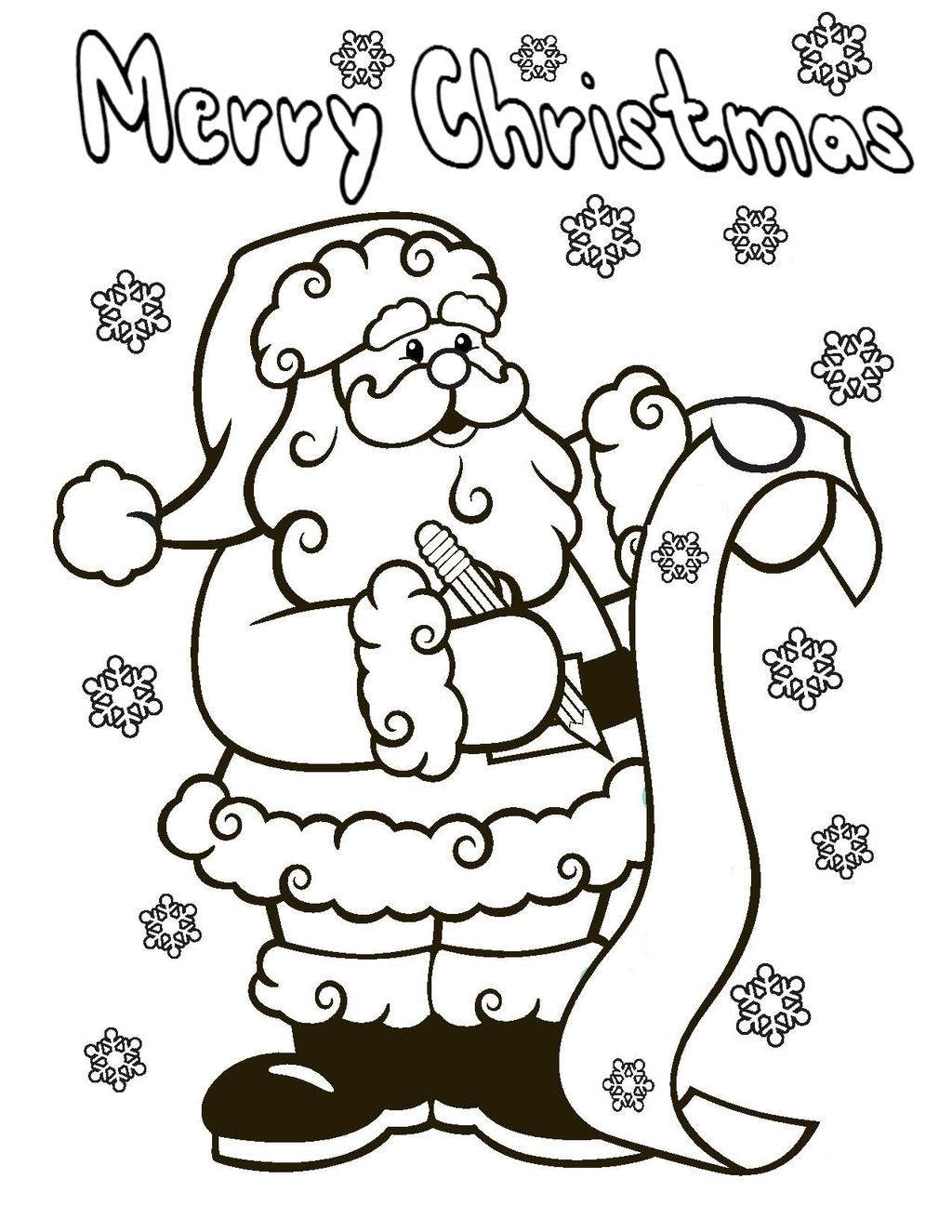 Free Advent Coloring Pages Santa Clause printable