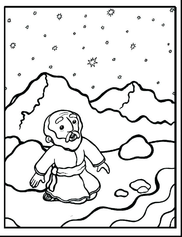 Free Advent Story Coloring Pages printable