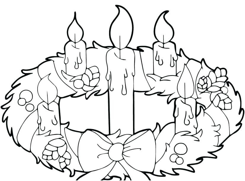 Free Christmas Advent Candle Coloring Pages printable