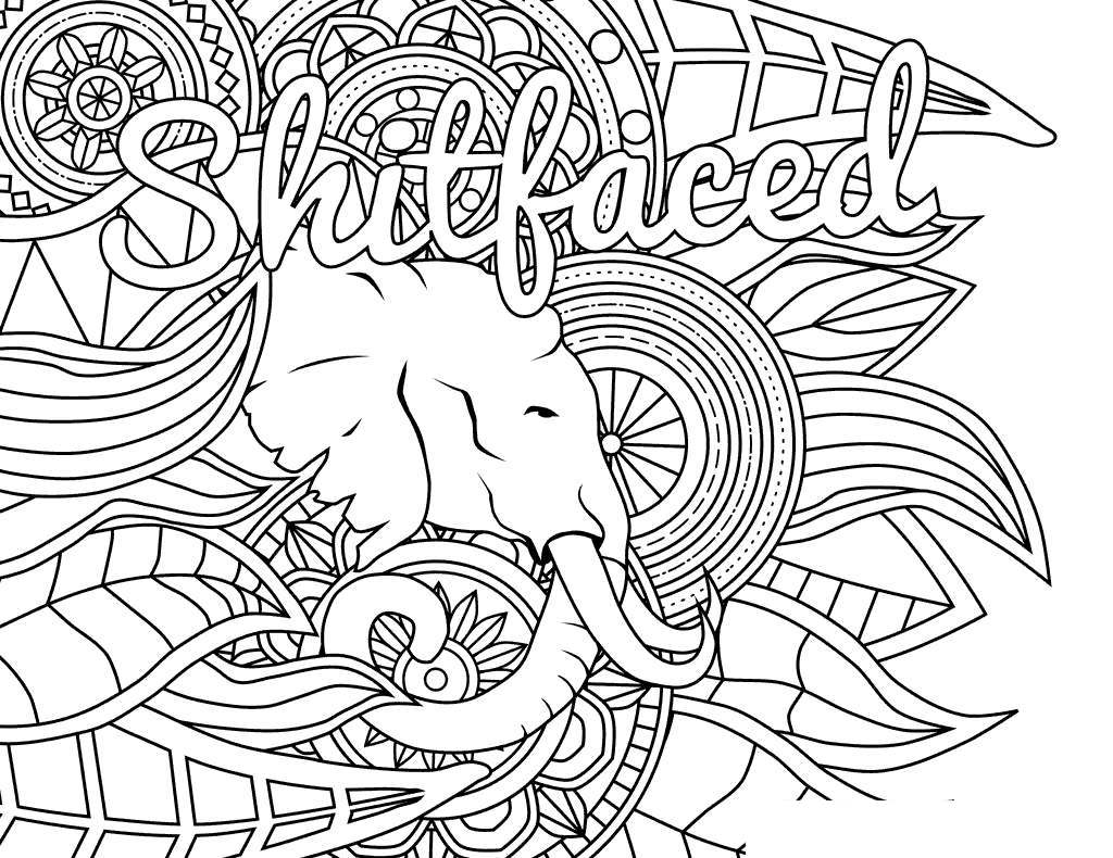 Free Cuss Word Coloring Pages Shitfaced printable