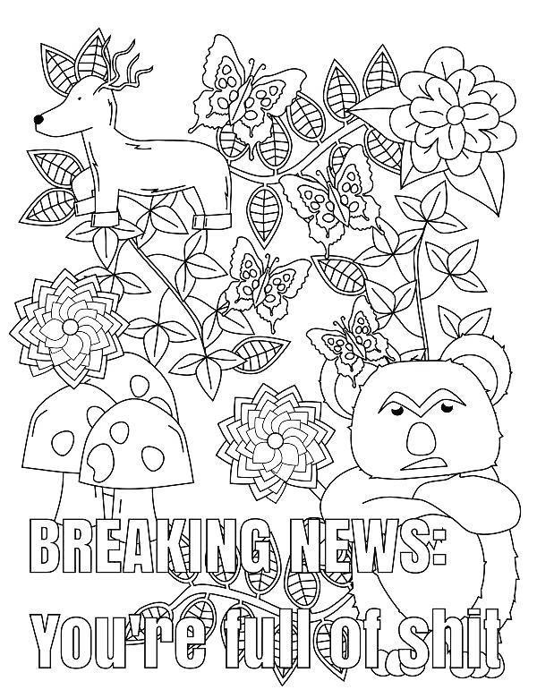 Free Cuss Word Coloring Pages You are full of Shit printable