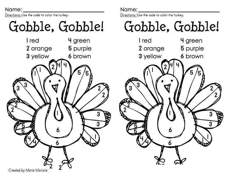 Free Free Turkey Coloring Pages Color by Numbers printable