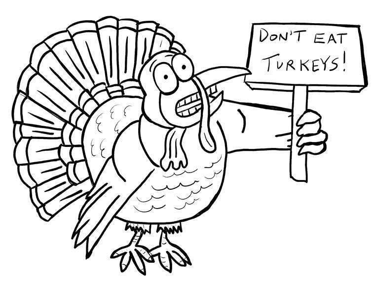 Free Free Turkey Coloring Pages Dont Eat Turkeys printable