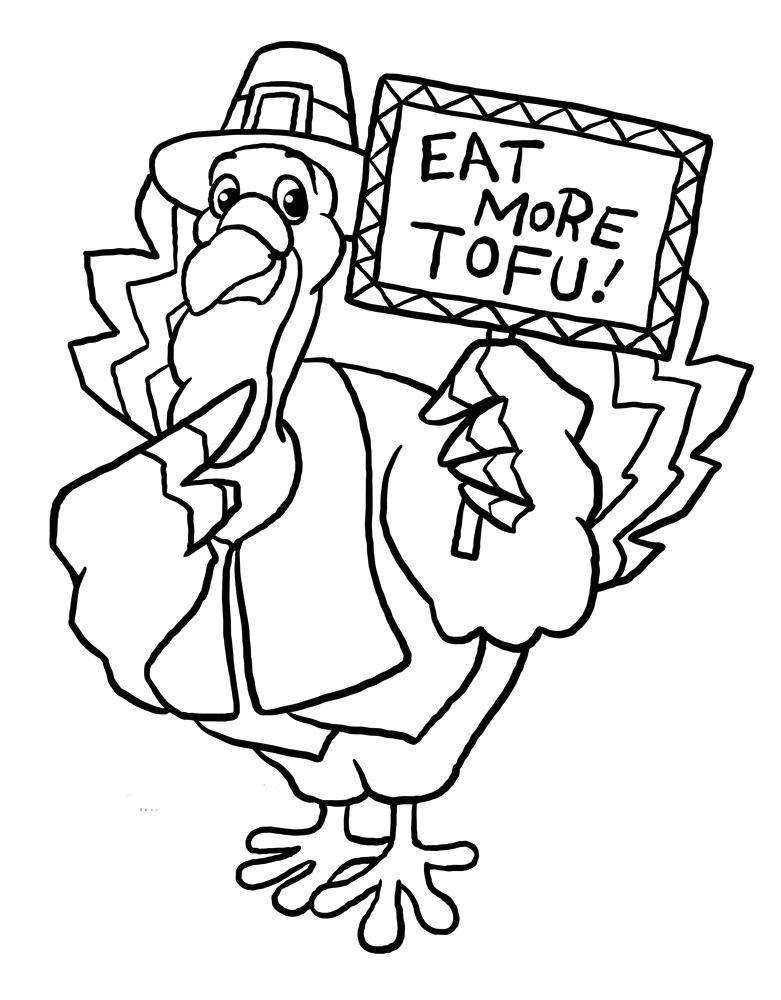 Free Free Turkey Coloring Pages Eat More Tofu printable