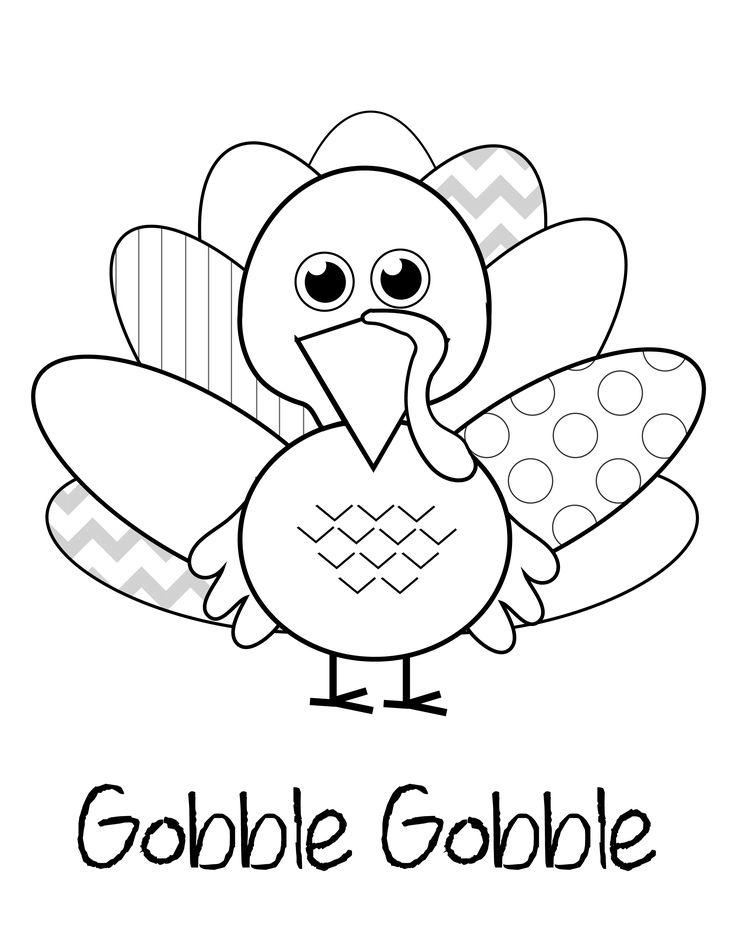 Free Free Turkey Coloring Pages Gobble Gobble printable