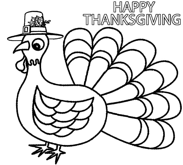 Free Free Turkey Coloring Pages Happy Thanksgiving printable