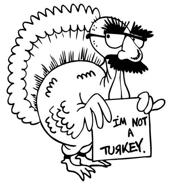 Free Free Turkey Coloring Pages Im not a Turkey printable