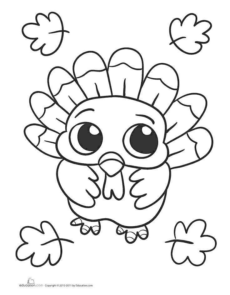 Free Free Turkey Coloring Pages for Girl printable