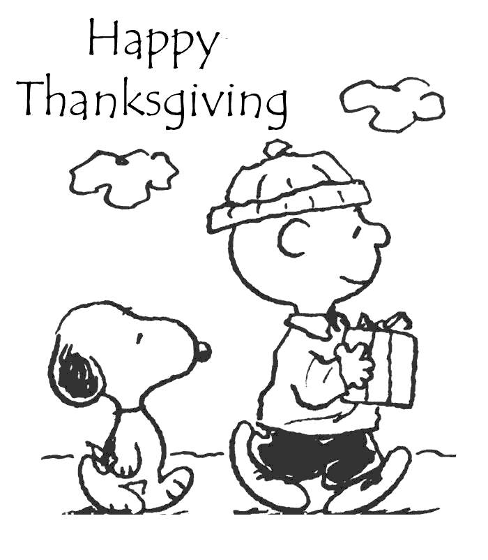 Gifts of Charlie Brown Thanksgiving Coloring Pages - Free ...