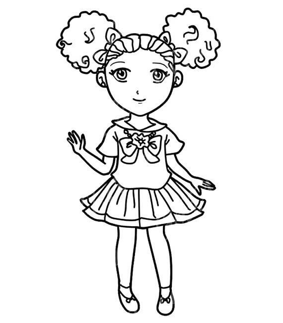 Free Lovely Black Girl Coloring Pages printable