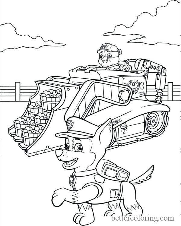 Free Printable Paw Patrol Thanksgiving Coloring Pages printable