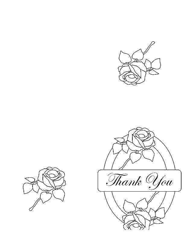Free Thank You For Your Service Coloring Pages Cards with Flowers printable