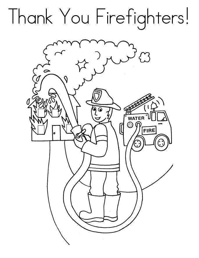 Free Thank You For Your Service Coloring Pages Fire Fighters printable