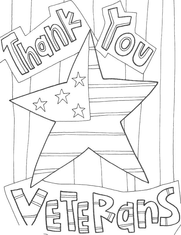 Free Thank You For Your Service Coloring Pages Thank You Veterans printable