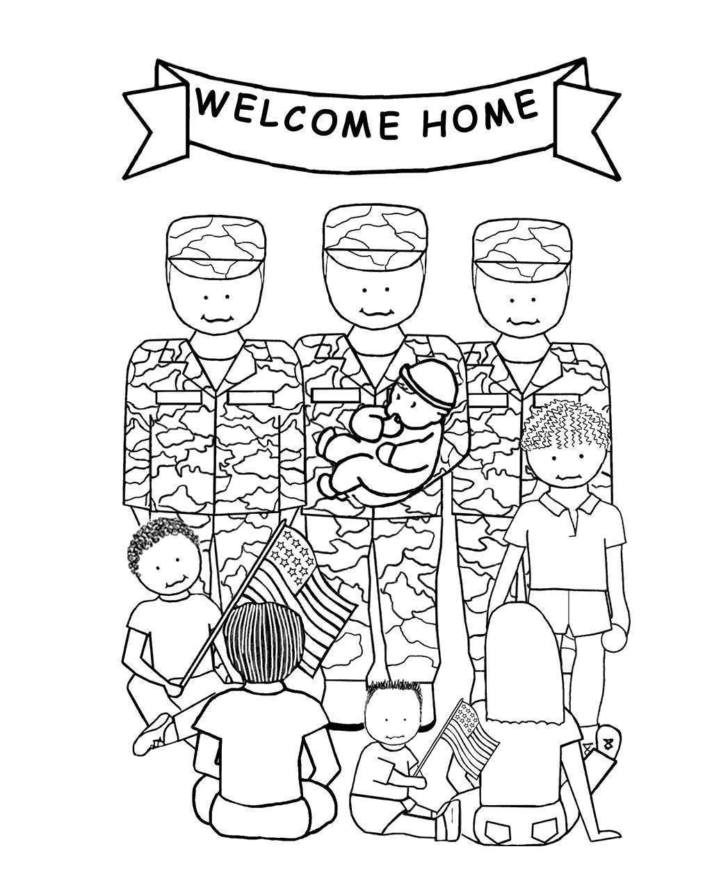Free Thank You For Your Service Coloring Pages Thank you Soldier printable