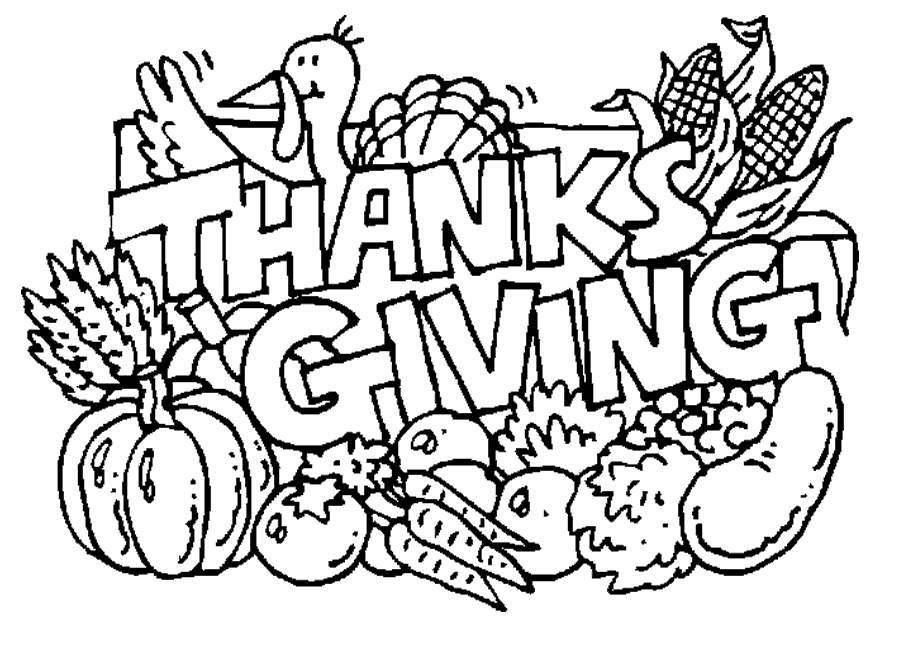 Free Thanksgiving Food Coloring Pages Clipart printable