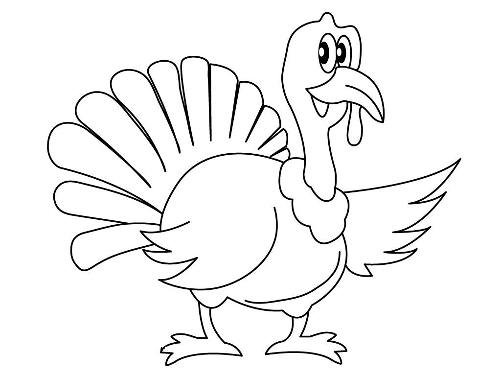 Free Thanksgiving Free Turkey Coloring Pages printable