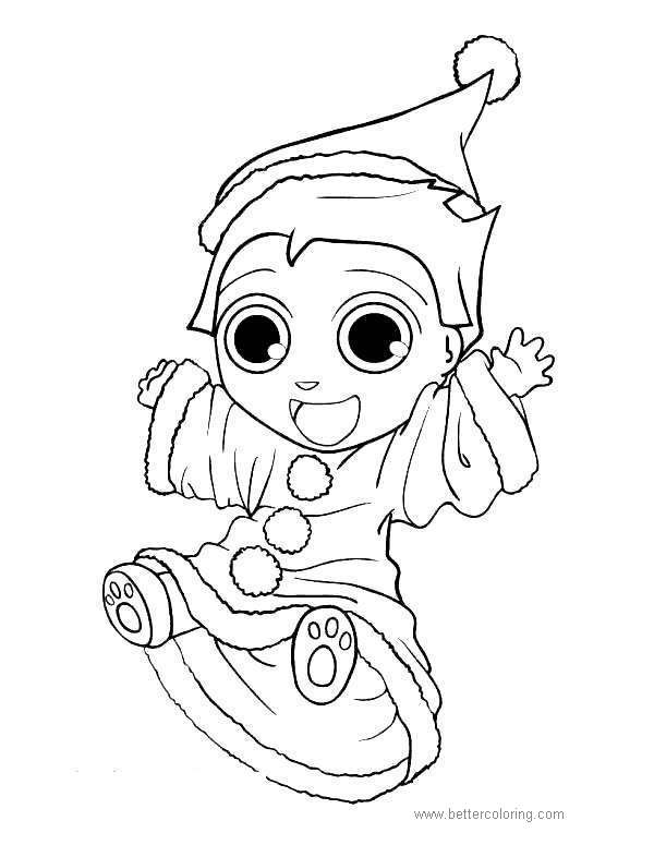 Free Baby Elves Coloring Pages printable