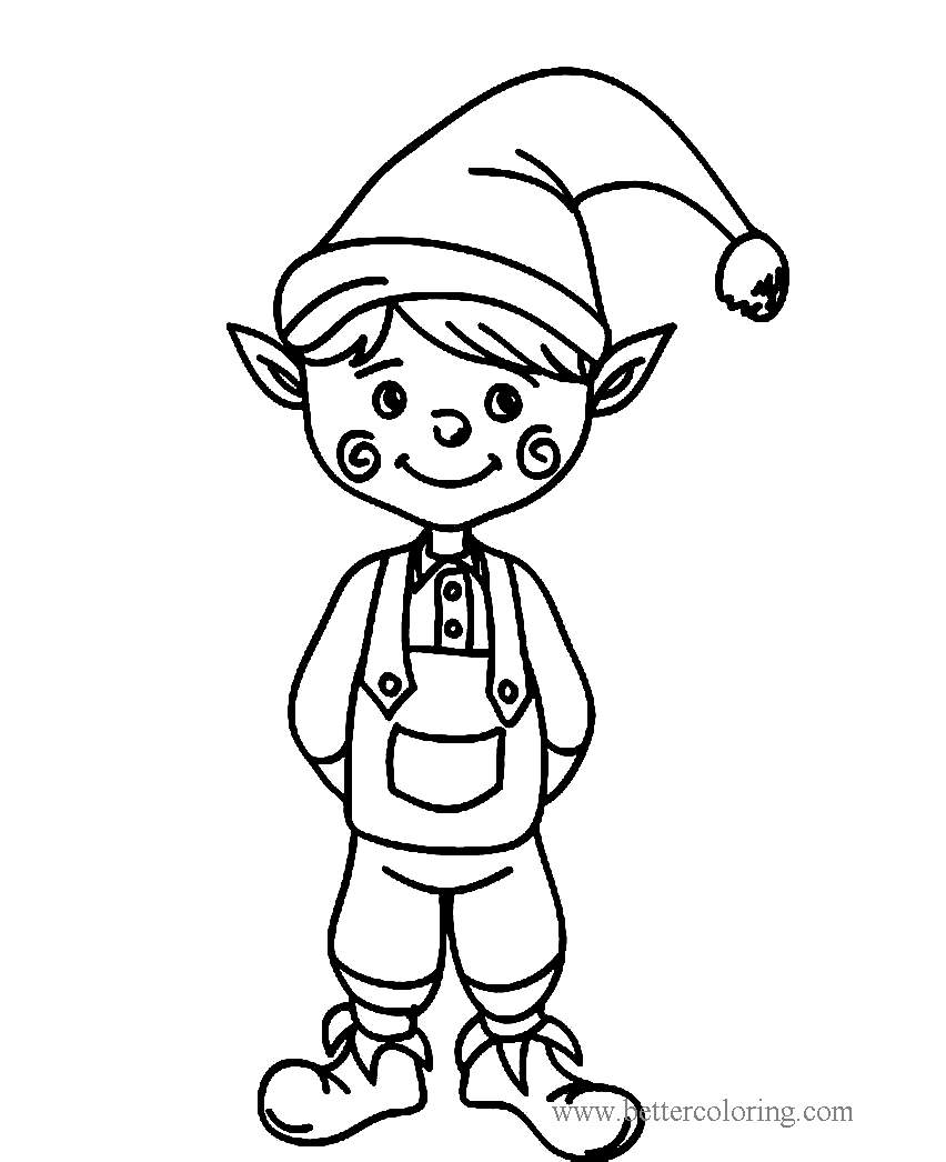 Free Boy from Elf On The Shelf Coloring Pages printable