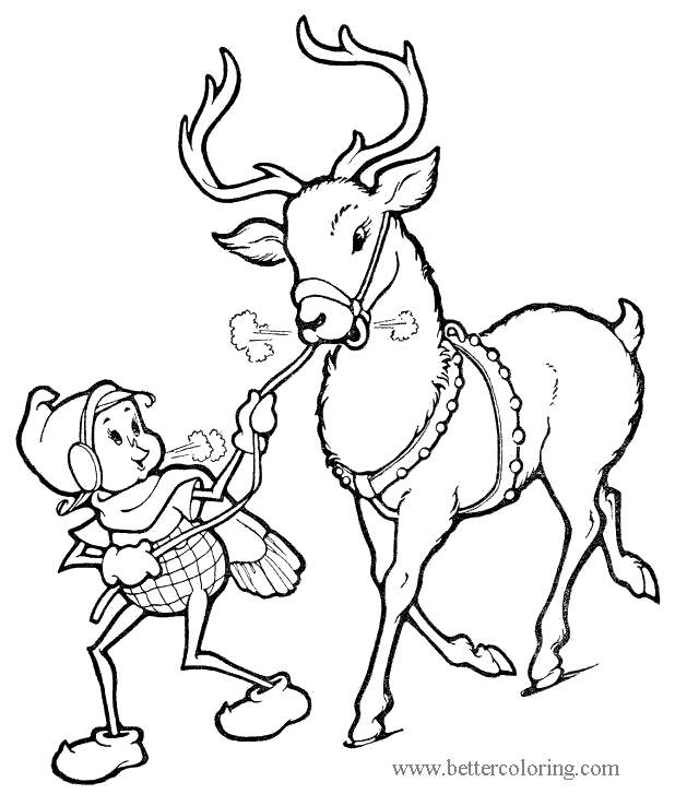 Free Characters from Elf On The Shelf Coloring Pages printable