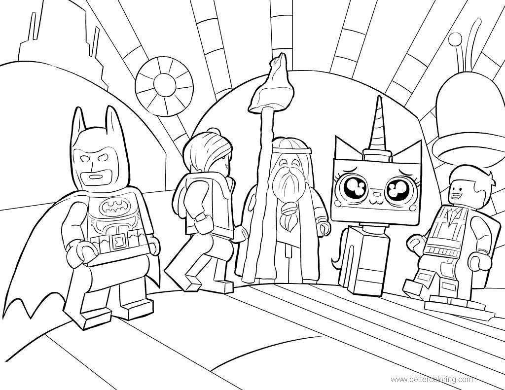 Free Characters from Lego Movie Coloring Pages printable