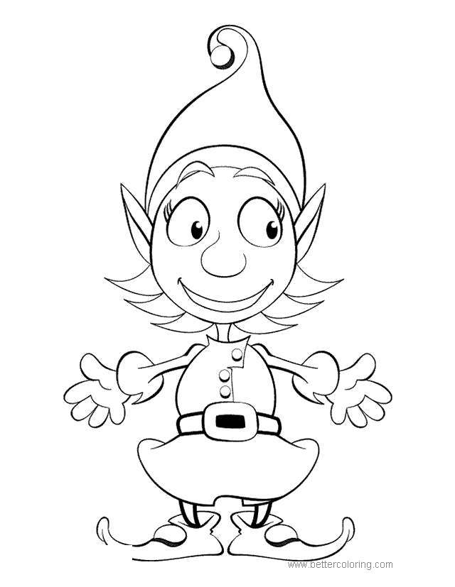 Free Chibi Elves Coloring Pages printable