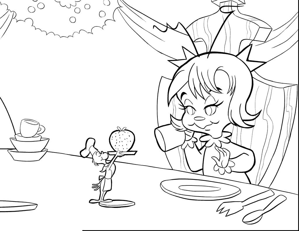 Free Cindy Lou Who from Whoville Coloring Pages printable