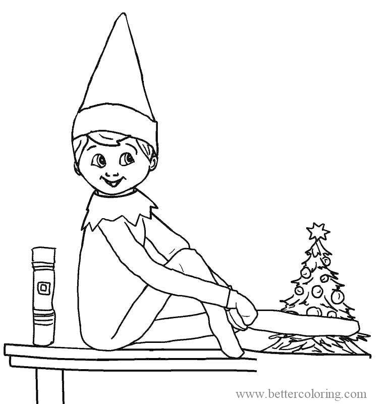 Free Cute Elf On The Shelf Coloring Pages printable