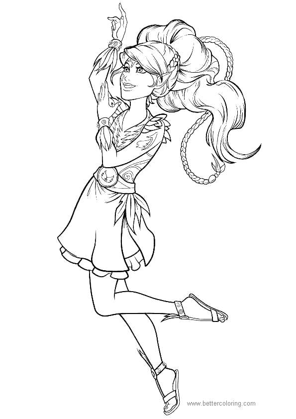 Free Dancing Elves Coloring Pages printable
